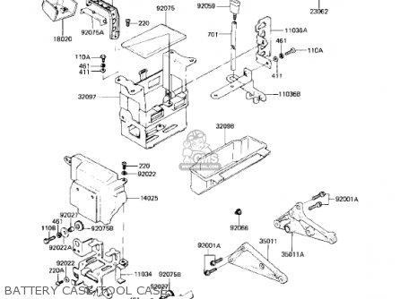 Kawasaki KZ750L3 1983 USA CANADA parts lists and schematics
