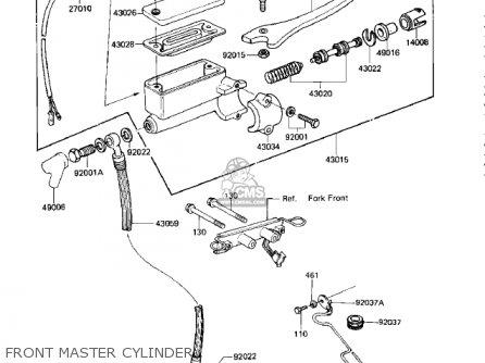Kawasaki KZ750M1 CSR TWIN 1982 USA / MPH parts lists and