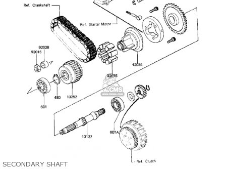 Kawasaki KZ750N1 SPECTRE 1982 USA CANADA parts lists and