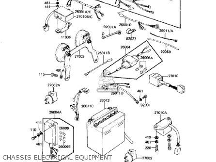 Kawasaki KZ750N2 SPECTRE 1983 USA CANADA parts lists and