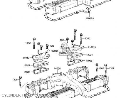 Kawasaki Kz750r1 Gpz 1982 Usa Canada parts list