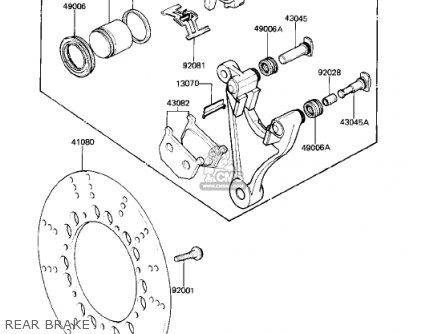 Kawasaki KZ750R1 GPZ 1982 USA CANADA parts lists and