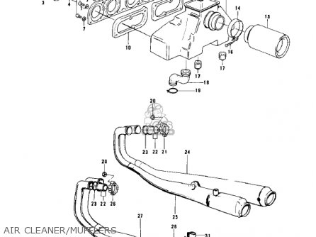 Kawasaki Kz900 A4 1976 Usa parts list partsmanual partsfiche