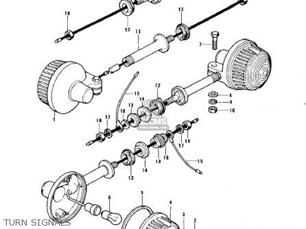 Kawasaki Kz900a4 1976 Usa Canada parts list partsmanual