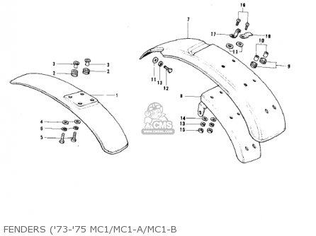 Kawasaki MC1 MIDIBIKE 1973 USA CANADA parts lists and