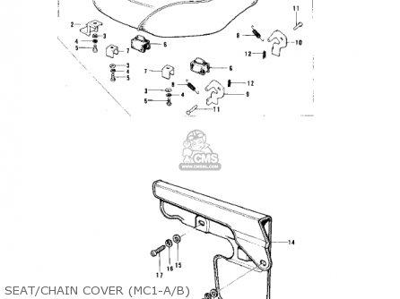 Kawasaki Mc1a 1974 Usa Canada parts list partsmanual