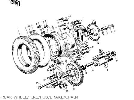 Kawasaki MT1 MINITRAIL 1971 parts lists and schematics