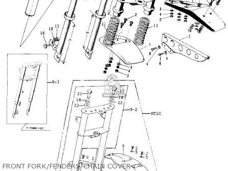 Kawasaki MT1B 1974 parts lists and schematics