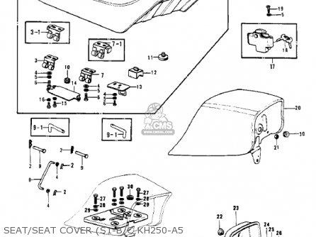 Kawasaki S1b Mach I 1974 Usa Canada parts list partsmanual