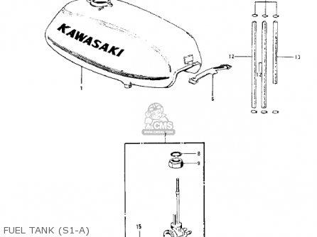 Kawasaki S1c Mach I 1975 Usa Canada parts list partsmanual
