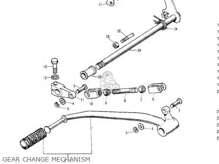 Kawasaki S2 MACH II 1972 USA parts lists and schematics