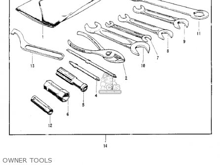 Kawasaki S2 Mach Ii 1972 Usa parts list partsmanual partsfiche