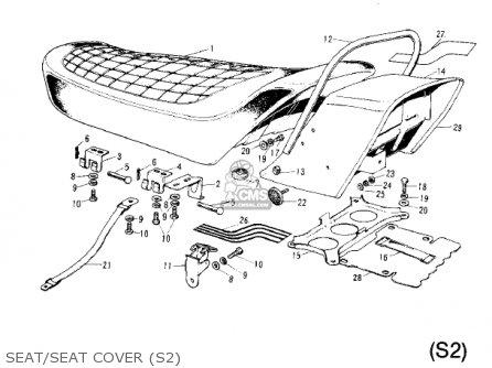 Kawasaki S2A MACH II 1973 USA parts lists and schematics