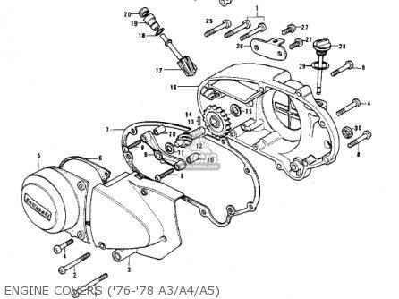 Kawasaki S3 Mach Ii 1974 Usa Canada parts list partsmanual