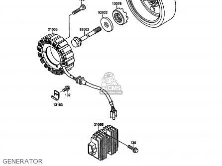 Kawasaki Vn1500a4 Vn15 1990 Europe Fg parts list