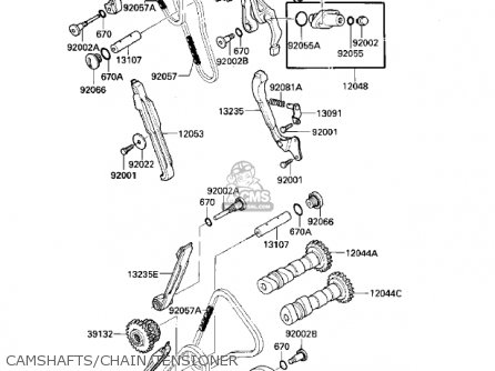 Kawasaki VN700A1 LTD 1985 USA CALIFORNIA parts lists and