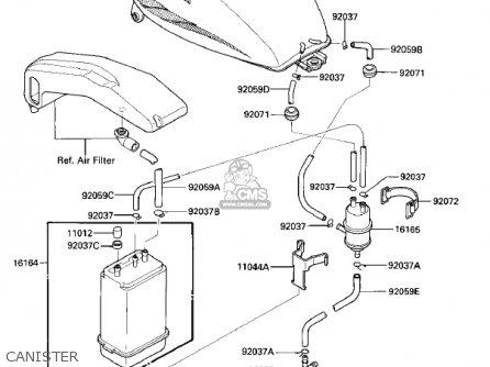 Kawasaki Vn700a1 Ltd 1985 Usa California parts list