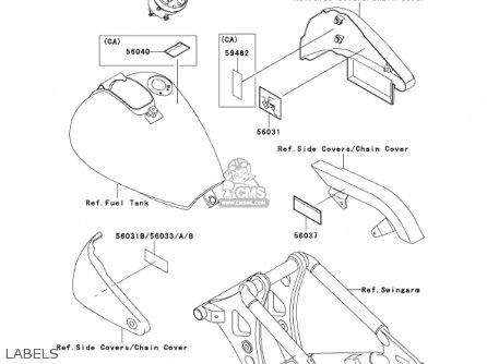 Kawasaki Vn800a7 Vulcan 800 2001 Usa California parts list