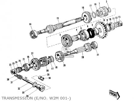 Kawasaki W1SS 1969 USA CANADA parts lists and schematics