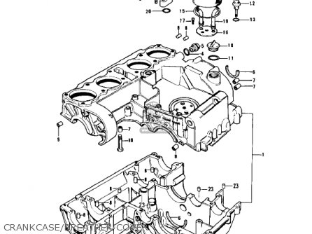 Kawasaki Z1 1973 Usa Canada parts list partsmanual partsfiche