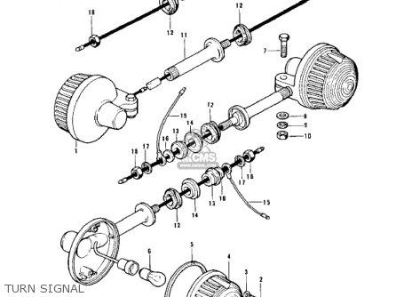 Kawasaki Z1 1973 Usa Canada parts list partsmanual partsfiche