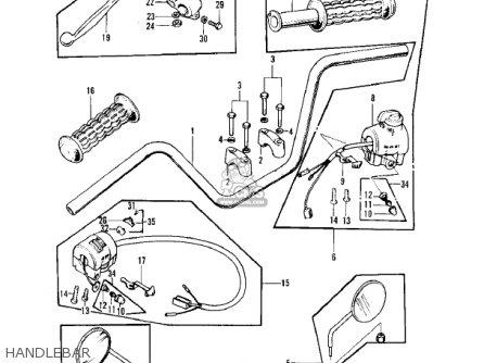 Kawasaki Z1 1973 Usa parts list partsmanual partsfiche