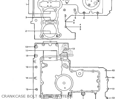Kawasaki Z1 B 1975 Usa parts list partsmanual partsfiche