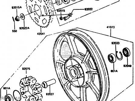 Kawasaki Z1000R2 1983 EUROPE UK IT NR SD ST parts lists