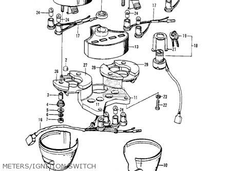 Kawasaki Z1a 1974 Usa Canada parts list partsmanual partsfiche