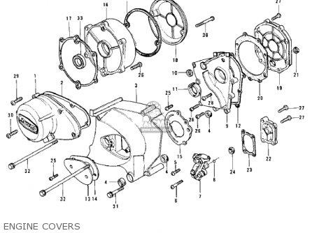 Kawasaki Z1B 1975 USA CANADA parts lists and schematics