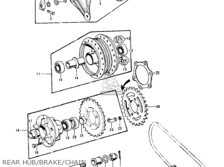 Kawasaki Z1b 1975 Usa Canada parts list partsmanual partsfiche