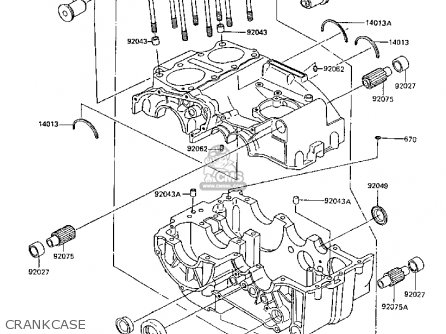 Kawasaki Z305A3A CSR 1988 EUROPE parts lists and schematics
