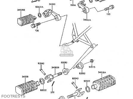 Kawasaki Z305A3A CSR 1988 EUROPE parts lists and schematics