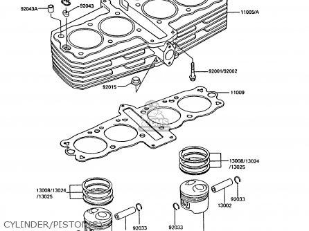 Kawasaki Z550G3 GT550 1986 UNITED KINGDOM FG parts lists