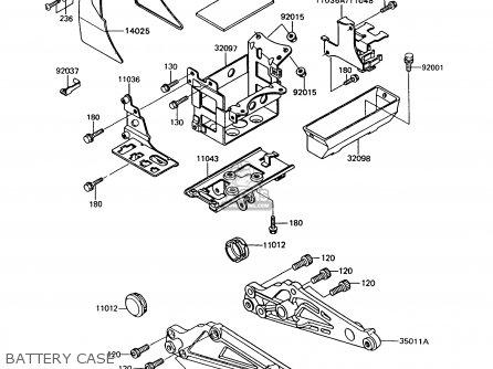 Kawasaki Z550g9 Gt550 1994 United Kingdom parts list