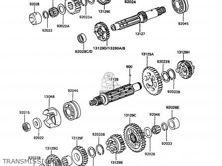 Kawasaki Z550G9 GT550 1994 UNITED KINGDOM parts lists and