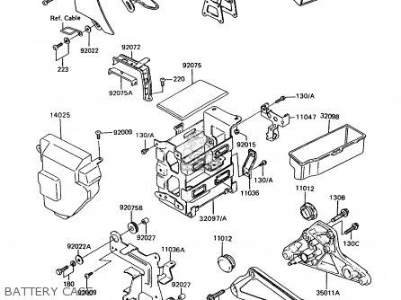Kawasaki Z750p9 Gt750 1994 United Kingdom parts list