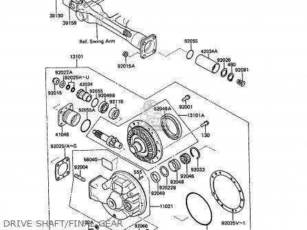 Kawasaki Zg1000a6 1000gtr 1991 Austria Nr parts list