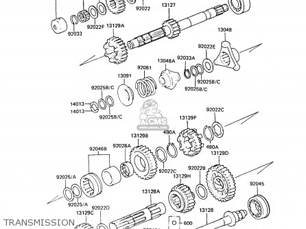 Kawasaki ZG1300A4 Z1300 1988 FG parts lists and schematics
