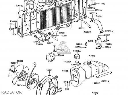 Kawasaki Zg1300a5 Z1300 1989 Norway Fg parts list
