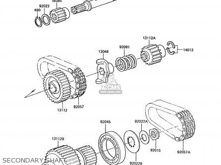 Kawasaki ZG1300A5 Z1300 1989 NORWAY FG parts lists and