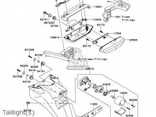Kawasaki ZG1400B8F CONCOURS 14 2008 USA parts lists and