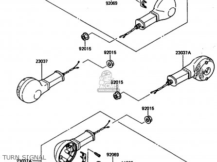 Kawasaki ZL600A1 1986 EUROPE WG / KPH parts lists and