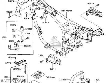 Kawasaki Zl900a2 Eliminator 1986 Usa California Canada