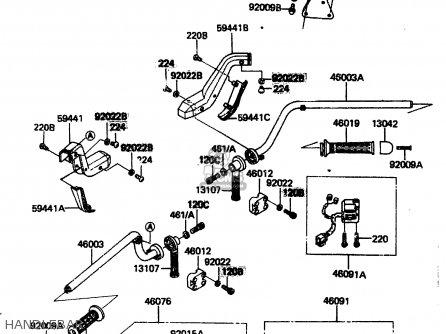 Kawasaki Zn1300a1 1983 Usa Canada parts list partsmanual