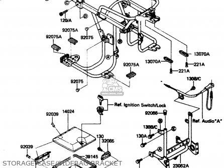 Kawasaki ZN1300A1 1983 USA CANADA parts lists and schematics