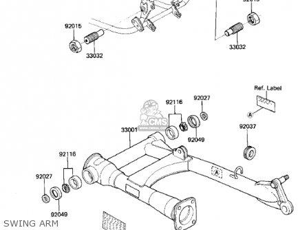 Kawasaki ZN700A2 SHAFT 1985 USA CALIFORNIA / LTD parts