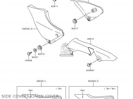 Kawasaki ZR1100A1 1992 CANADA parts lists and schematics