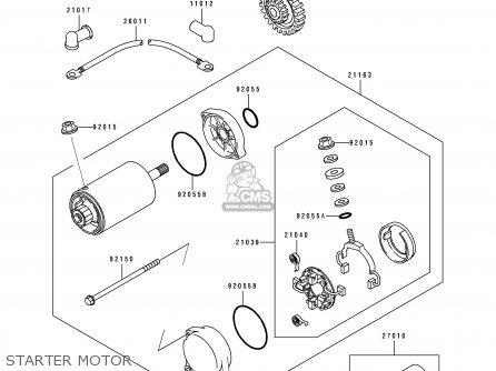 Kawasaki Zr1100a1 1992 Canada parts list partsmanual