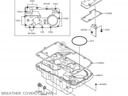 Kawasaki ZR1100A2 1993 USA CALIFORNIA CANADA parts lists
